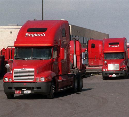 Rick Egan  |  The Salt Lake Tribune England Trucks at the England trucking center in Salt Lake. Dan England, chairman of C.R. England Inc., has been elected chairman of the American Trucking Associations for a one-year term.