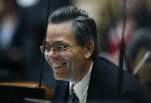 Scott Sommerdorf  l  Tribune file photo Rep. Kenneth Sumsion, R-American Fork, says he will challenge Gov. Gary Herbert for the Republican nomination for governor. The former House chairman of the Redistricting Committee says his decision is unrelated to a disagreement with Herbert over congressional district boundaries.