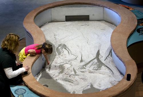 Steve Griffin  |  The Salt Lake Tribune   An interactive erosion table is part of  the new Natural History Museum of Utah in Salt Lake City, Utah Saturday, November 5, 2011.