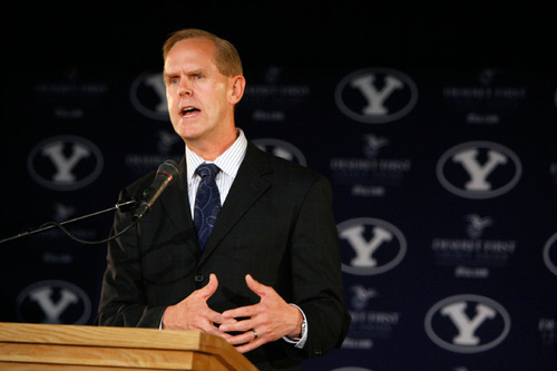 Francisco Kjolseth  |  The Salt Lake Tribune BYU Athletic Director Tom Holmoe, speaking at the September press conference in which the school discussed its move to football independence, said the school grew weary of unfulfilled promises.