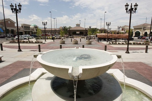 File photo  |  The Salt Lake Tribune Renovation of the Valley Fair Mall in West Valley City has included the construction of a large outdoor plaza.