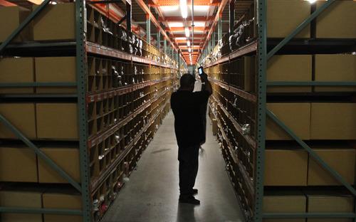Rick Egan  | The Salt Lake Tribune   Osualdo Figueroa locates items on the shelves for online customers, at Overstock.com warehouse, on cyber Monday, November 28, 2011.