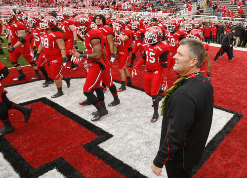 Trent Nelson  |  The Salt Lake Tribune Utah coach Kyle Whittingham before the game, Utah vs. Colorado, college football at Rice-Eccles Stadium in Salt Lake City, Utah, Friday, November 25, 2011