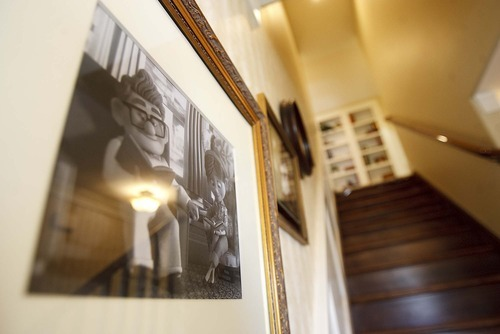 Trent Nelson  |  The Salt Lake Tribune Artwork along the stairway inside the