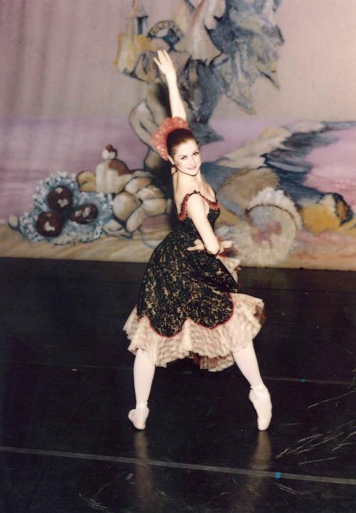 Ballet West dancer Melanie Watts in a 1993 performance.  Courtesy Melanie Watts Robbins