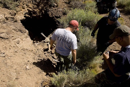 Trent Nelson  |  The Salt Lake Tribune Investigators from the West Valley City police department search abandoned mine shafts west Ely, Nev., on Aug. 19, 2011, as part of the investigation into the 2009 disappearance of Susan Powell,