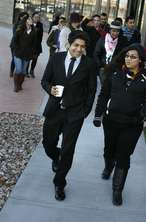 Scott Sommerdorf  |  The Salt Lake Tribune              David Morales leaves immigration court in West Valley City on Thursday after his case was continued until Feb. 23.