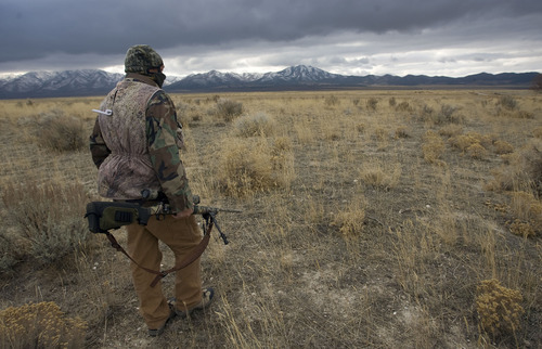 Al Hartmann  |  The Salt Lake Tribune Bill Keebler is a varmint hunting outfitter. He specializes in coyote hunting. He often hunts the basins and mountain ranges west of his home in Vernon.