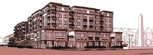 A rendering of the Sugar House development as envisioned by developer Craig Mecham.