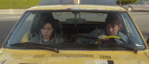 Aubrey Plaza (left) and Mark Duplass co-star in