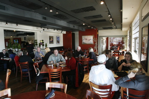 Rick Egan  | The Salt Lake Tribune  Lower prices, especially on the excellent made-from-scratch pastas, make the service glitches a bit more tolerable at Michelangelo Ristorante, pictured here at the original location on Highland Drive in Salt Lake City.