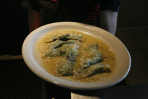 Rick Egan  | The Salt Lake Tribune   Spinach ravioli, at the original location of Michelangelo Ristorante, on Highland Drive in Salt Lake City.