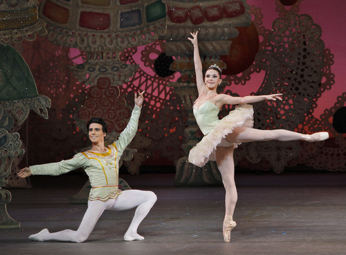 Courtesy photo Utah native and Ballet West Academy-trained dancer Megan Fairchild, as the Sugarplum Fairy, with Joaquin De Luz, as her Cavalier, in the New York City Ballet production of