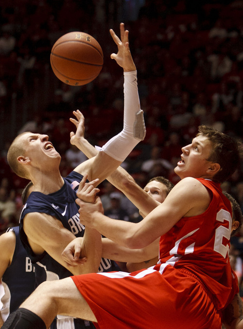 College basketball: BYU grinds out win over slow-down Utah ...