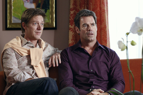 Kevin Rahm and Tuc Watkins in an episode of ABC's