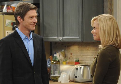 Jack (Kevin Rahm, left) and Annie (Jaime Pressly) share an awkward moment in
