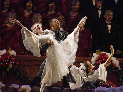 Paul Fraughton | The Salt Lake Tribune Dancers perform at The Mormon Tabernacle Choir's Christmas extravaganza  at the LDS Conference Center.   Thursday, December 15, 2011