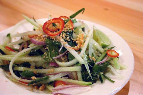 Green Papaya Salad at Plum Alley, opening Friday. Courtesy Diana Yin