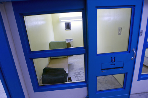Al Hartmann     The Salt Lake Tribune Salt Lake County's Adult Detention Center has a medical unit where prisoners are treated and housed in secure cells.