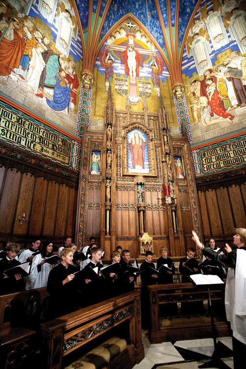 Children of the Madeleine Choir perform at Mass. Courtesy photo