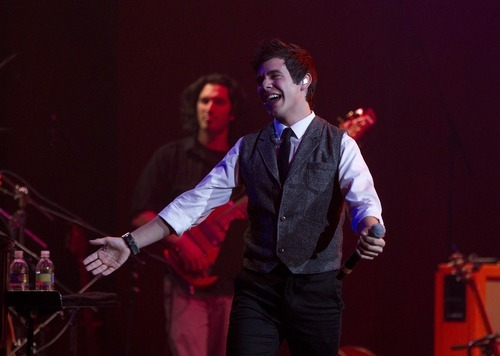 Jim Urquhart | Special to The Salt Lake Tribune David Archuleta brought his Christmas show to Abravanel Hall on Monday. It was part of his