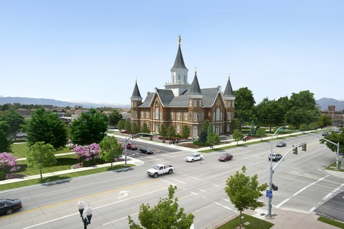 Courtesy of the LDS Church An artist's conception of how the rebuilt Provo Tabernacle/Temple will look.