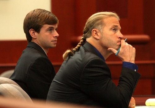 Leah Hogsten  |  The Salt Lake Tribune Ramsey Shaud (left) of Crestview, Fla., attended a Utah Supreme Court hearing with his attorney Daniel Drage (right) in September. The court is weighing whether Shaud met requirements of Utah's adoption law in regards to his daughter, born Jan. 15, 2010.