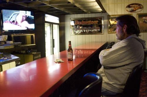 Kim Raff   The Salt Lake Tribune Bar patron Rod Perry watches television at the Swedetown Pub in Salt Lake City.