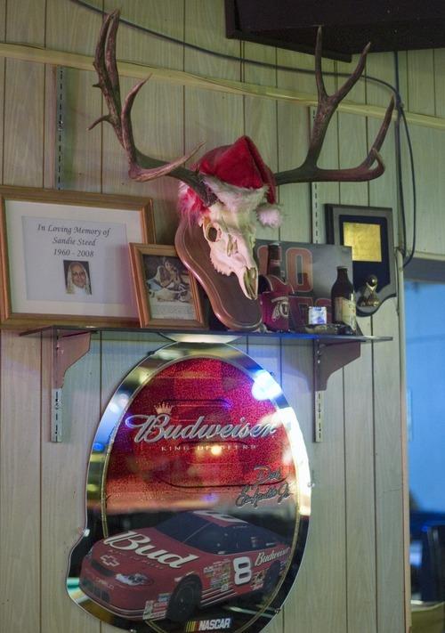 Kim Raff   The Salt Lake Tribune A Santa hat sits on top of a skull at Swedetown Pub in Salt Lake City.