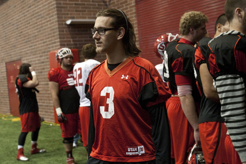 Chris Detrick  |  The Salt Lake Tribune Utah's Jordan Wynn during a practice at the Spence Eccles Field House Tuesday December 20, 2011.