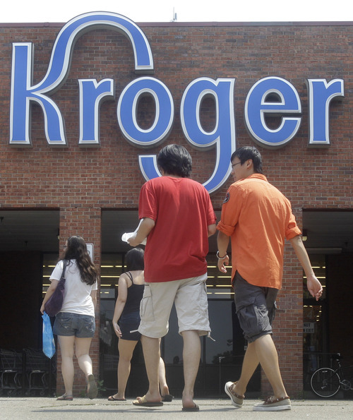 Al Behrman  |  Associated Press file photo Kroger contributed 10.9 percent of its $589 million pre-tax profits -- $64 million -- to charity in 2009, the year Chronicle of Philanthropy used to make its evaluations.