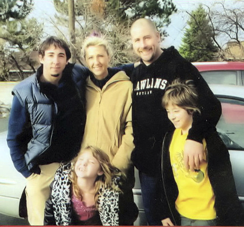 Steve and Keri traveled to Wyoming in 2005 with their two youngest children, Dallen and Kirah, to meet Kai, the son Keri placed with adoptive parents in 1986.  Courtesy Keri Stone