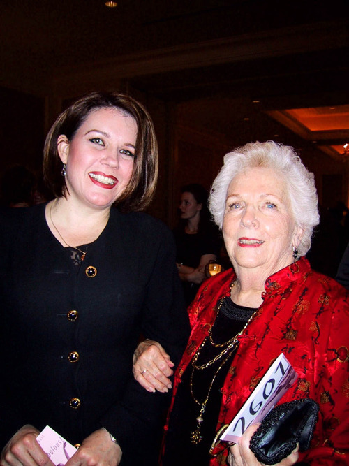 Courtesy photo Florence Christensen, right, with daughter-in-law Michelle Goeglein at Ballet West's 40th birthday party in 2004 at the Grand America Hotel. Christensen died Thursday at the age of 94.