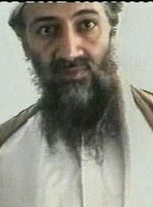 This image taken from video released by Qatar's Al-Jazeera televison broadcast on Friday, Oct. 5, 2001, is said to show Osama bin Laden. Despite having no Internet access in his hideout, Osama bin Laden was a prolific email writer who built a painstaking system that kept him one step ahead of the U.S. government's best eavesdroppers. (AP Photo/Courtesy of Al-Jazeera via APTN)