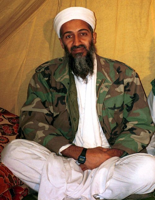 FILE -This undated file photo, shows Osama bin Laden. Americans are expected to get a glimpse of Osama bin Laden's daily life with the disclosure of home videos showing him strolling around his secret compound, along with propaganda tapes that have never been made public (AP Photo/File)