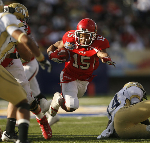 Trent Nelson  |  The Salt Lake Tribune Utah running back John White during the fourth quarter as the University of Utah faces Georgia Tech, college football at the Sun Bowl in El Paso, Texas, Saturday, December 31, 2011.