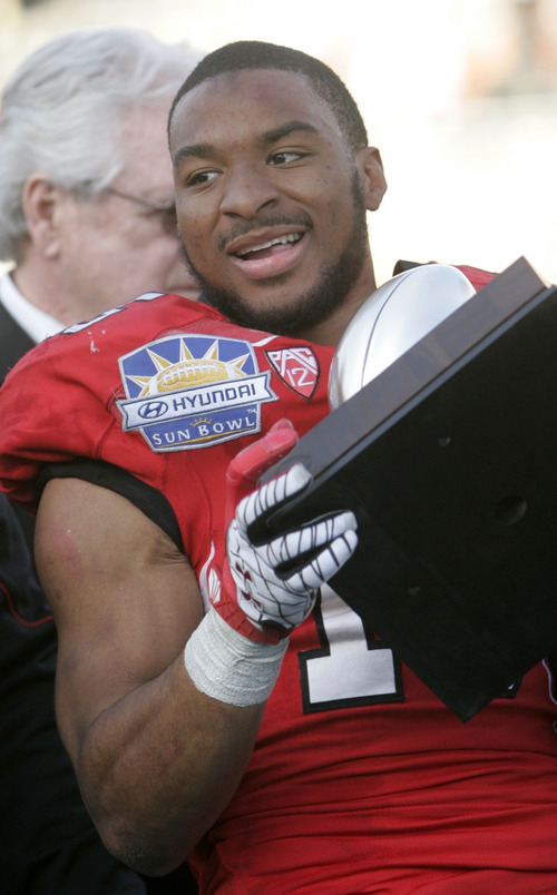 Trent Nelson  |  The Salt Lake Tribune Utah running back John White was named the game's MVP. The University of Utah faces Georgia Tech, college football at the Sun Bowl in El Paso, Texas, Saturday, December 31, 2011.