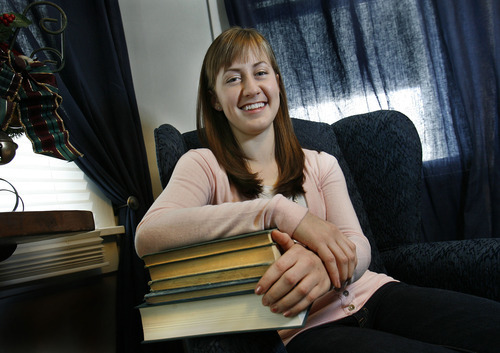 Scott Sommerdorf  |  The Salt Lake Tribune              Mindee Sharp, 18, is one of 28 Hillcrest High graduates receiving an International Baccalaureate diploma on Jan. 2. She had 39 credits from IB and Advanced Placement classes when she started school at Brigham Young University this fall. She is photographed in her Midvale home Dec. 29, 2011.