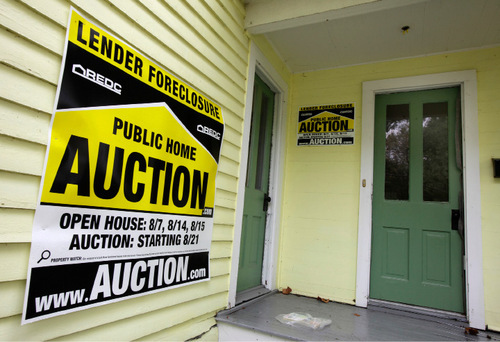 (AP Photo/Amy Sancetta) Foreclosure levels are expected to remain high in 2012. The problem is that a number of adjustable-rate mortgages taken out at the height of the market in 2007 will hit their five-year reset in 2012.