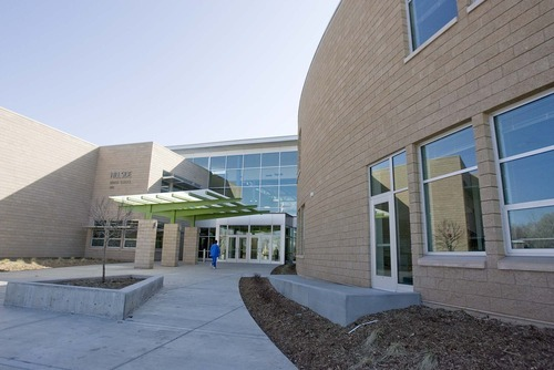 Paul Fraughton | The Salt Lake Tribune  Hillside Middle School is one of several schools in Salt Lake City School District that were rebuilt as part of an effort to address seismic safety concerns throughout the district. Hillside earned national certification as a green building.