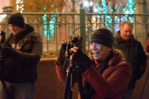 Photowalking Utah offers rank amateurs and professional photographers an opportunity to socialize and grow creatively at outing such as this recent one to Temple Square. 12/11. Courtesy Ann Torrence