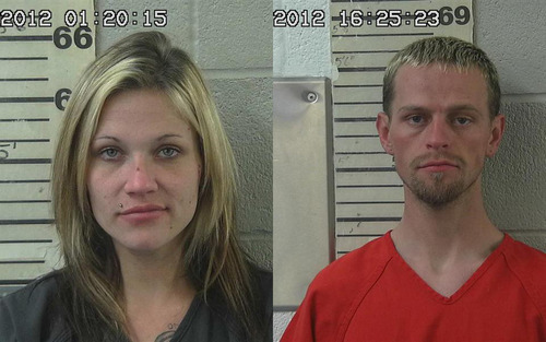 Angela Atwood, 25, and Logan McFarland, 24, are pictured in this composite image.