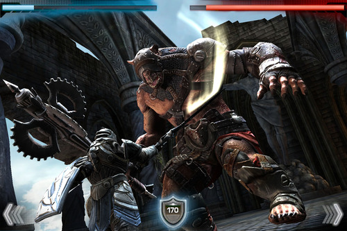 "Screenshot from the iPhone/iPod touch/iPad game, ""Infinity Blade II,"" developed by Salt Lake City video game producers, Chair Entertainment. Courtesy image"