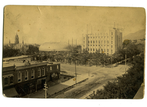 Tribune file photo  Construction is underway on the Salt Lake Temple in this undated photo.