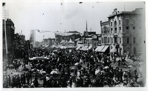 Tribune file photo  A view of Salt Lake City's Main Street is seen in the mid 1880s.