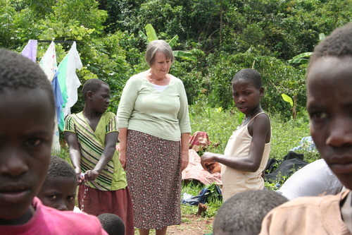 Jeremiah Stettler  |  The Salt Lake Tribune LDS humanitarian missionary Marilyn Barlow is responsible for bringing community wash basins to southern Uganda. She hopes they will bring better sanitation and more social interaction to the African nation. The projects are part of a $250,000 humanitarian effort by the LDS Church.
