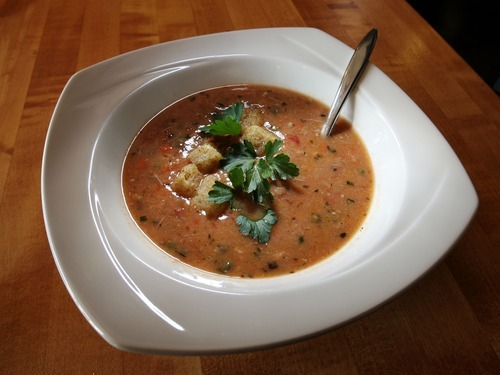 Steve Griffin  |  The Salt Lake Tribune Chef Adam Kreisel's northern Italian chicken barley soup. Kreisel is the owner of Chaia Cucina Catering in Salt Lake City.