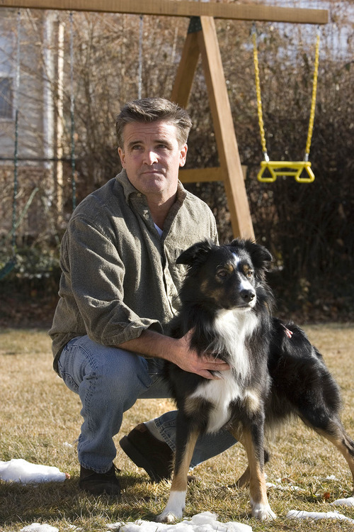 Paul Fraughton | The Salt Lake Tribune Maximillian  Werner, with his dog Rufus. Werner is the author of