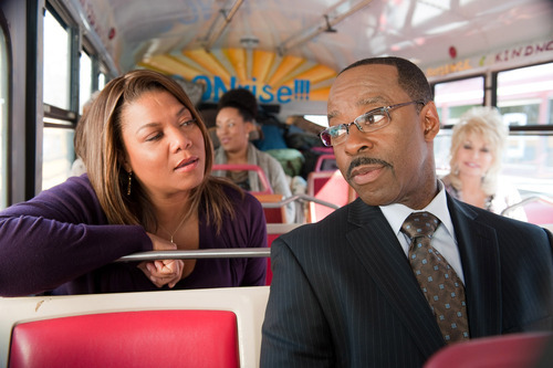 Queen Latifah, left, and Courtney B. Vance are shown in a scene from