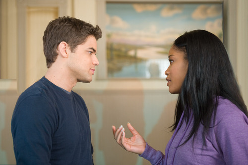 Jeremy Jordan, left, and Keke Palmer are shown in a scene from